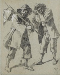 study of two peasants by francesco londonio