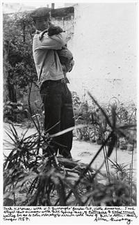 jack kerouac with w.s. burroughs garden cat, villa mineria by allen ginsberg