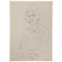 femme assise/portrait of woman by andré lhote