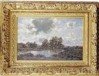 paysage avec rivière by johann baptist weiss