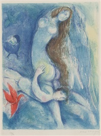 pl.3 from 'four tales from arabian nights' by marc chagall