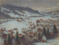 winter landscape (gstaadt?) by william samuel horton