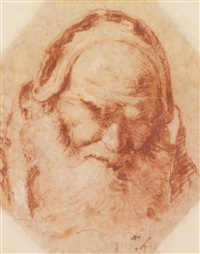 head of st. sylvester by giovanni battista tiepolo