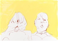 doppelselbstporträt by maria lassnig