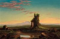 landscape with ruin by robert scott duncanson