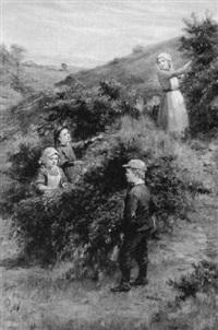 blackberry gatherers by john hodgson campbell