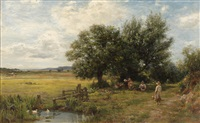 picnic in the summer shade by james aumonier