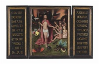 a triptych: the harrowing of hell by hieronymus bosch