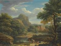 mountainous landscape by george lambert
