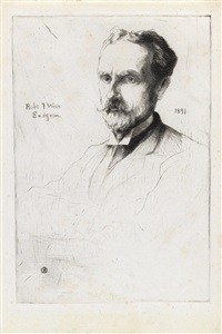 julian alden weir / portrait of dr. robert f. weir / julian alden weir by julian alden weir