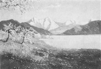 thuner see im frühling by ludwig von andok
