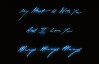 my heart is with you, and i love you, always always always by tracey emin
