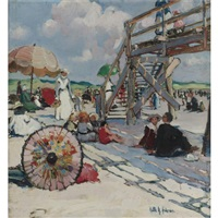 beach at gloucester by ruth a. (temple) anderson