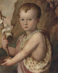 portrait of a young boy, traditionally identified as ferdinando de medici, as the infant saint john the baptist by agnolo bronzino