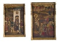 saint jean-baptiste prêchant (+ saint jean-baptiste conduit en prison; 2 works) by juan de la abadia