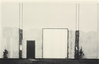 industrial structure during painting, irvine, from the series the new industrial parks near irvine, california by lewis baltz