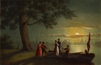 boating in the moonlight by johann mongels culverhouse
