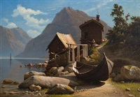 fra sognefjorden by knud andreassen baade