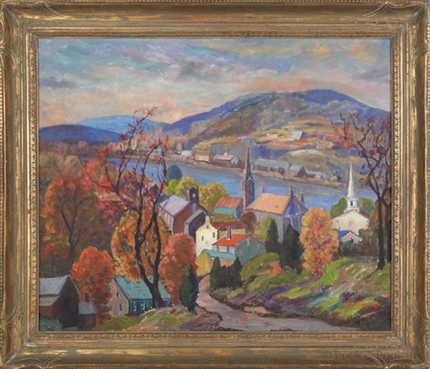 autumn from music circus hill lambertville by fern isabel coppedge
