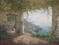 the amalfi coast by carl frederik peder aagaard
