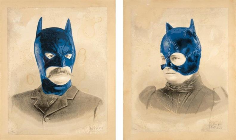 bat papi cat nana 2 works by mr brainwash