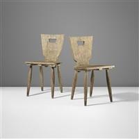 chaises rustiques (pair) by jean royère