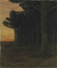 white pine trees, connecticut by charles warren eaton