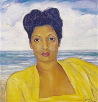 retrato de gilda (first wife of felix ayon) by jorge arche
