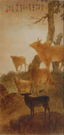 five cows by lee man fong