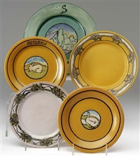 five plates by paul revere