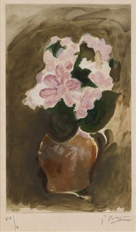 flower in the vase by georges braque