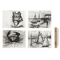a set of 16 lithographs saint-cast, souvenirs d'enfance by bernard buffet