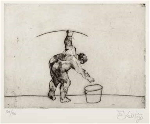 untitled artist bending by william kentridge