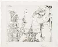 rêveries d'opium: fumeur en calotte papale... (from la série 347) by pablo picasso