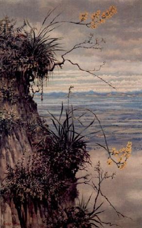 paisaje sabanero con orquideas by gonzalo ariza