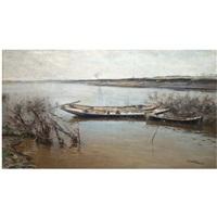 river landscape by nikolai alexandrovich klodt