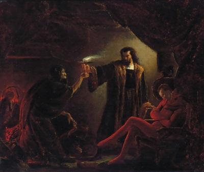 Faust Und Mephisto In Der Hexenküche By Carl Thiel