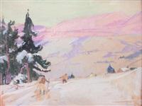 les skieurs by lucien simon
