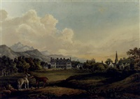 a view in killarney: lord kenmare's house by sir thomas gage