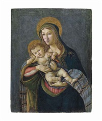 the madonna and child with the crown of thorns and three nails by sandro botticelli