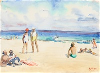at the beach by elizabeth gutman-kaye
