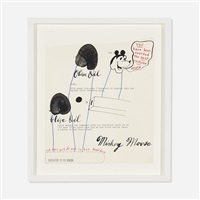untitled (olive oil mickey mouse) by ray johnson