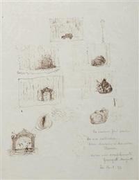 grande étude (recto-verso study) by rené magritte