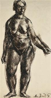 female nude by vilmos aba-novák