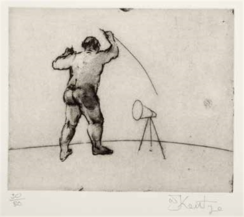 untitled artist standing by william kentridge