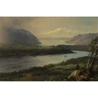 the highlands of the hudson river by frederic edwin church