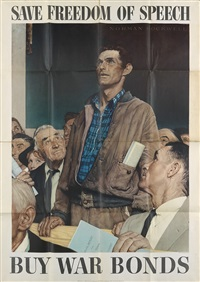 the four freedoms (4 works) by norman rockwell