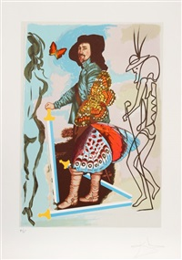 courtier from the papillon anciennnes suite by salvador dalí