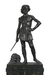 david with the head of goliath by donatello