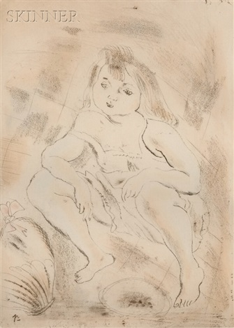 cendrillon accroupie from cendrillon by jules pascin